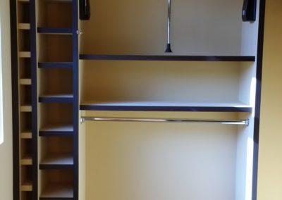 closet with blue trim