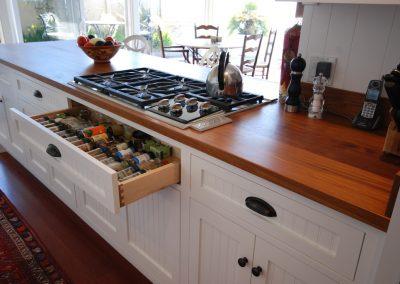 Kitchen spice drawer