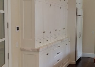 kitchen with floor to ceiling pantry