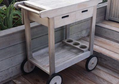 miscellaneous - outdoor teak kitchen cart