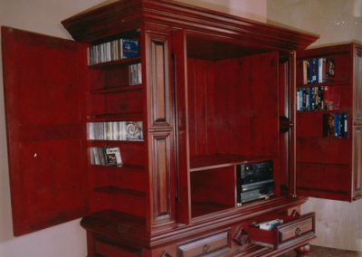 Wooden Cabinet with Bookshelf