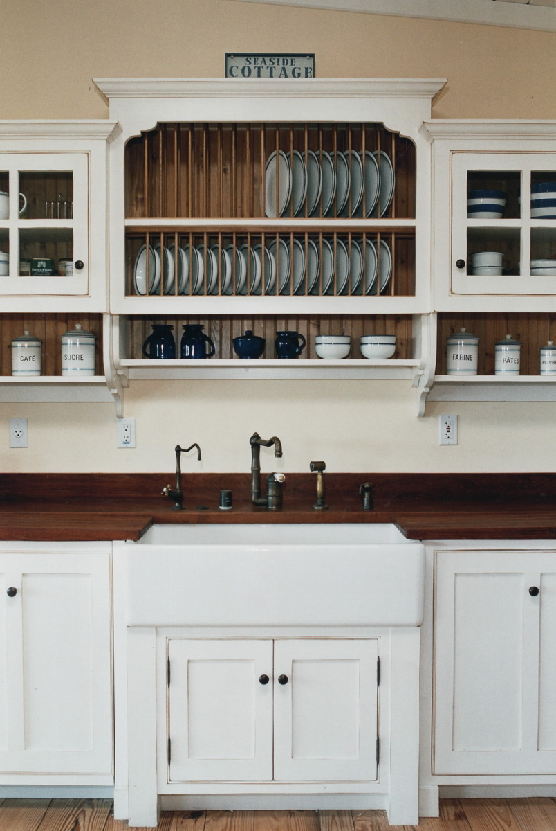 Sink with Plate Rack and Cabinet
