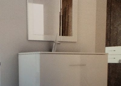 contemporary style vanity with mirror