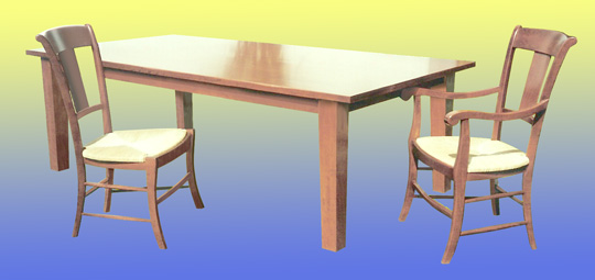 Wooden Table with Chair