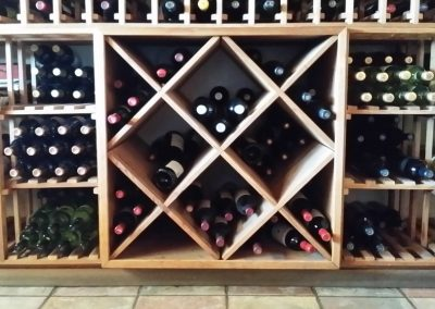 Simple storage for wine bottles