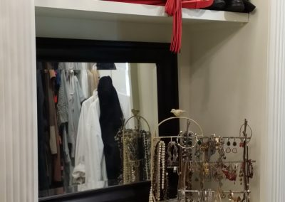 closet with mirror for woman