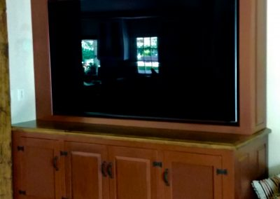 2016 Rustic TV cabinet 72 inch TV and equipment