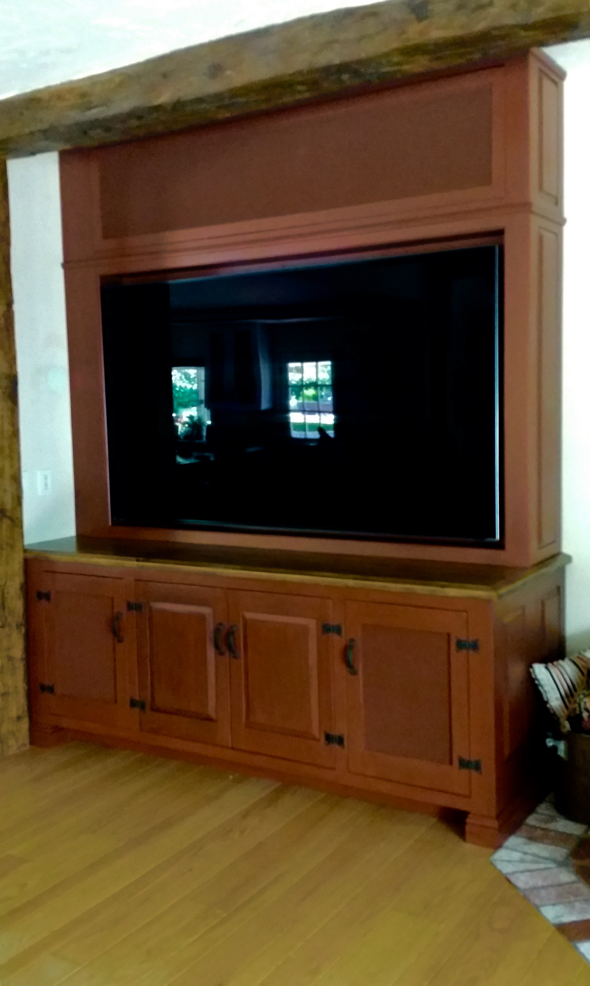 Genial 2016 Rustic TV Cabinet 72 Inch TV And Equipment