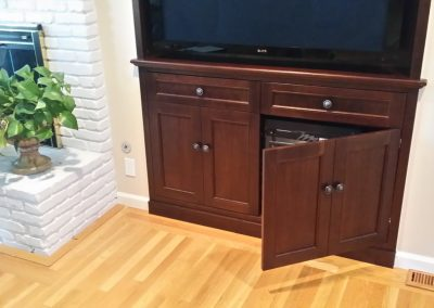 Audio video cabinet with Faux doors
