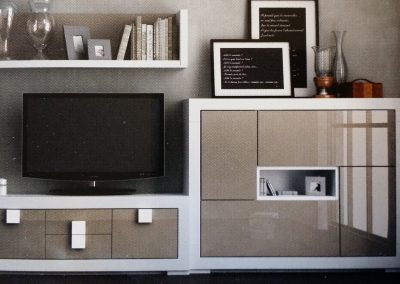 Contemporary TV and stereo cabinet