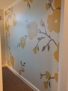 Contemporary painted paneling