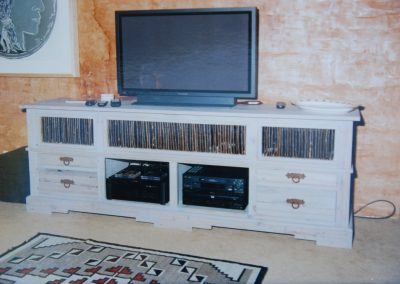 White TV Video Cabinet