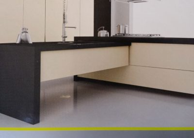 contemporary trendy commercial style kitchen counter